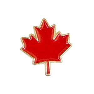 Stock Patriotic Design Pins w/ Gold Finish (Maple Leaf)