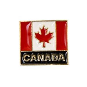 Stock Patriotic Design Pins w/ Gold Finish (Canada)