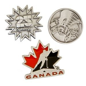 "Solid Pewter Lapel Pins (1 1/4"")"