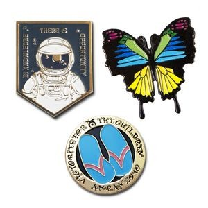 "Die Struck Soft Enamel Lapel Pins (1 1/2"")"
