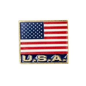 Faro Stock Patriotic Design Pins w/ Gold Finish (USA Flag)